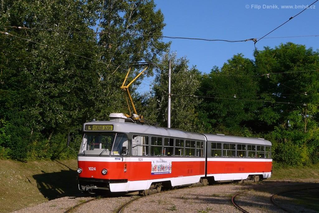 Fotogalerie » ČKD Tatra K2P 1024 | Brno | Líšeň | Novolíšeňská | Novolíšeňská, smyčka
