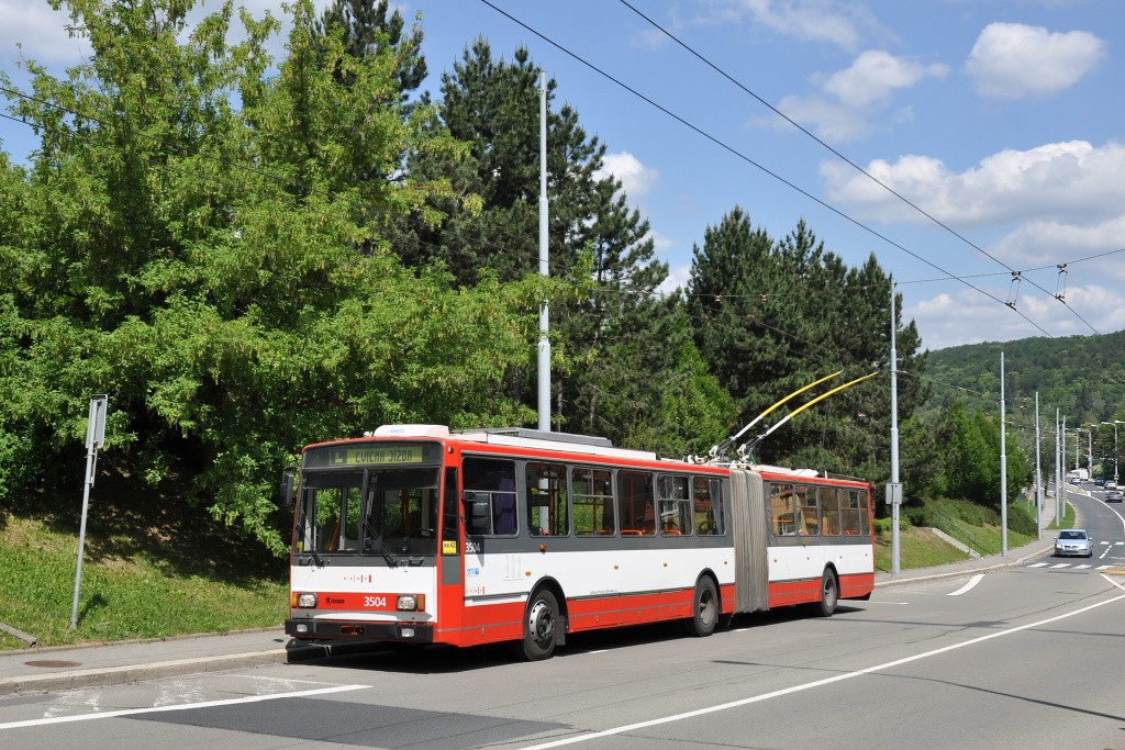 Fotogalerie » Škoda 15TrM 3504 | Brno | Bystrc | Odbojářská