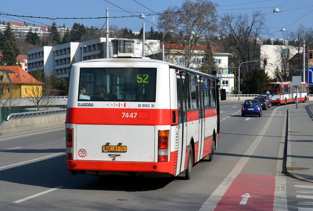 Fotogalerie » Karosa B931E.1707 BSE 81-74 7447 | Brno | Pisárky | Pisárecká