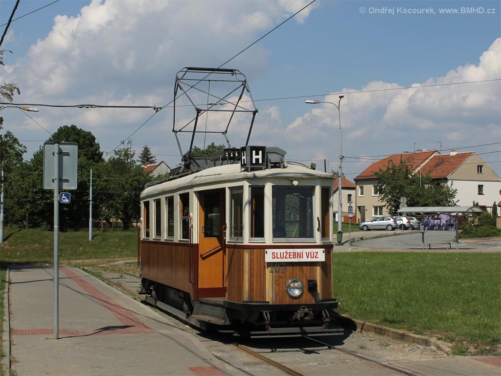 Fotogalerie » KPS Brno mv6.3 107   Modřice   Modřice, smyčka