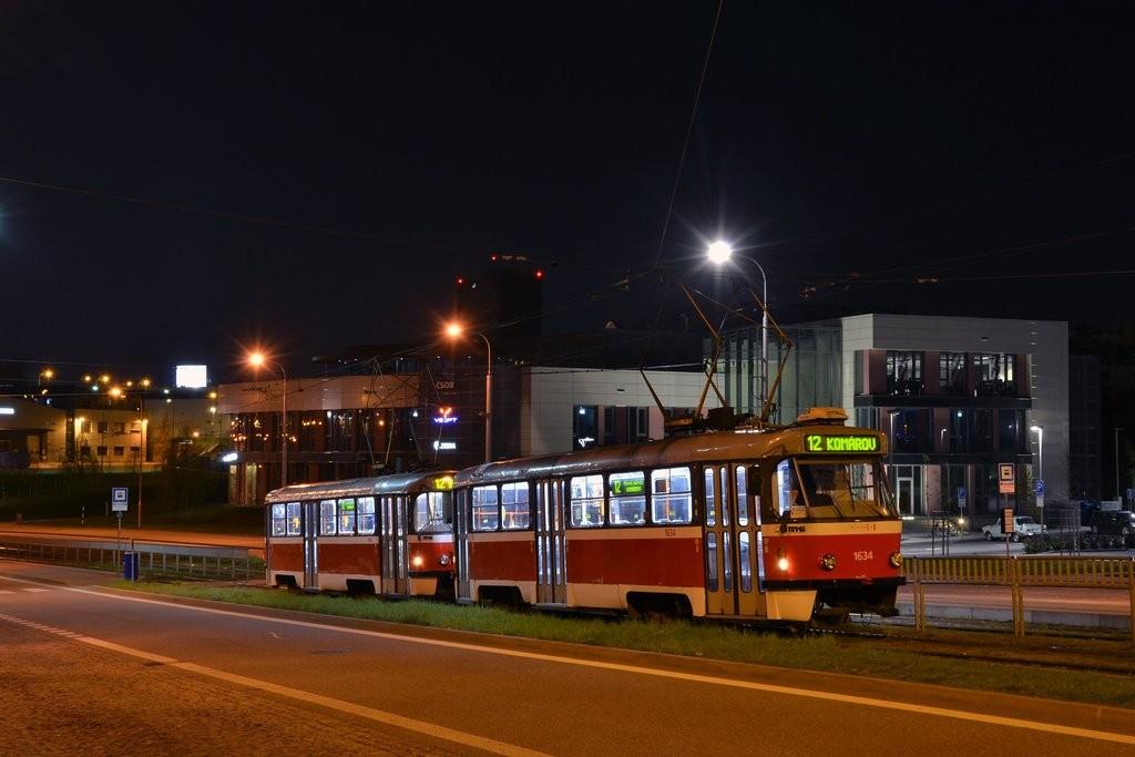 Fotogalerie » ČKD Tatra T3G 1634 | ČKD Tatra T3G 1616 | Brno | Královo Pole | Purkyňova | Technologický park