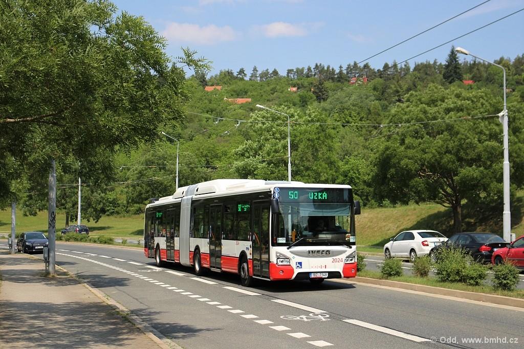 Fotogalerie » Iveco Urbanway 18M CNG 1BZ 7149 2024 | Brno | Nový Lískovec | Petra Křivky