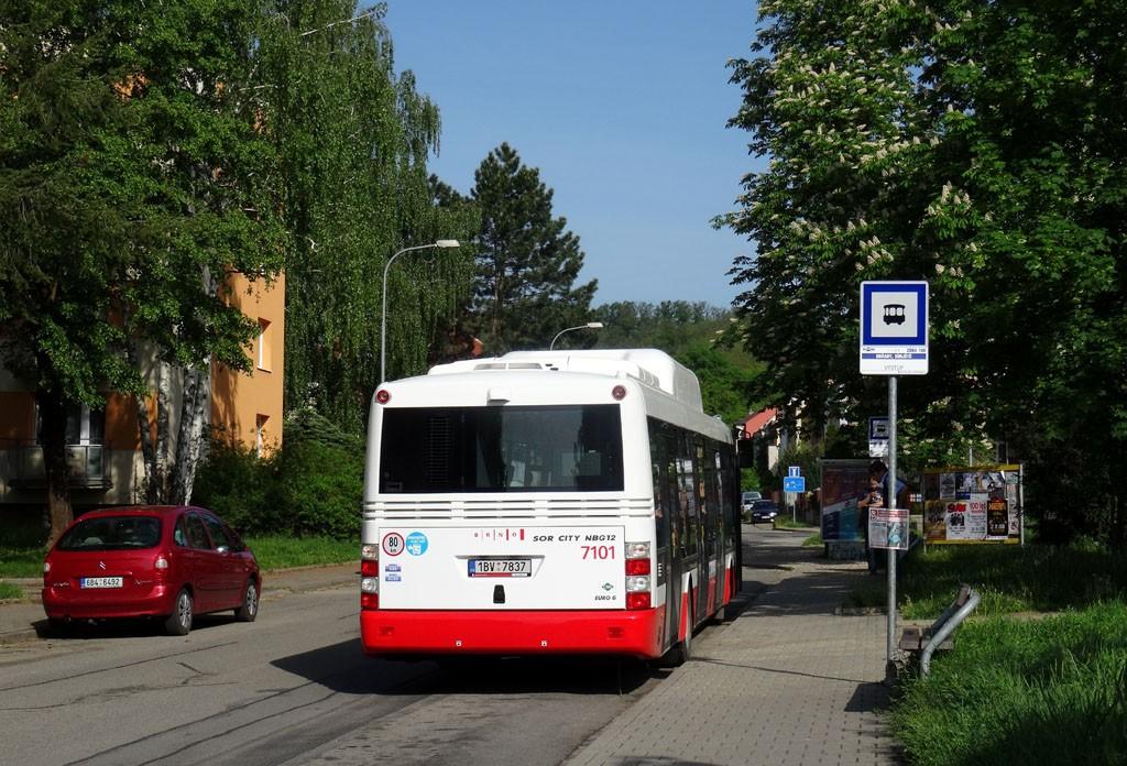 Fotogalerie » SOR NBG 12 1BV 7837 7101 | Brno | Obřany | Fryčajova | Obřany, sídliště