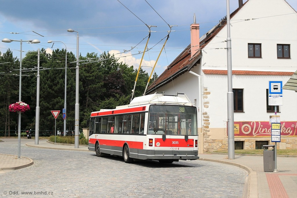 Fotogalerie » Škoda 21Tr 3035 | Brno | Bystrc | náměstí 28. dubna | Zoologická zahrada