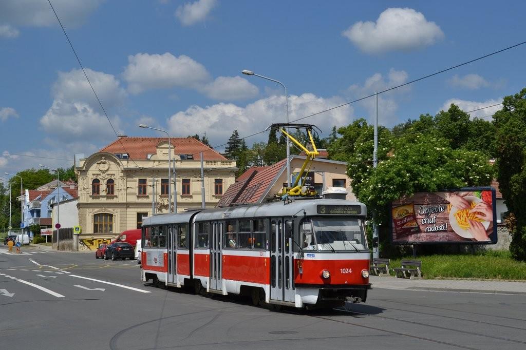 Fotogalerie » ČKD Tatra K2P 1024 | Brno | Žabovřesky | Rosického náměstí