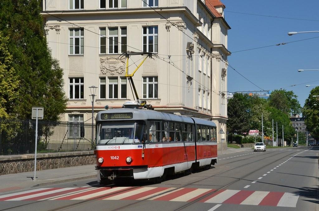 Fotogalerie » ČKD Tatra K2P 1042   Brno   střed   Veveří