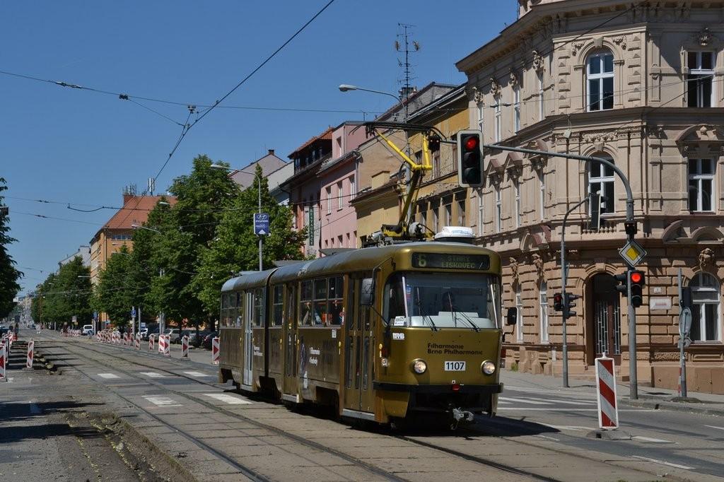 Fotogalerie » ČKD Tatra K2P 1107 | Brno | Ponava | Štefánikova