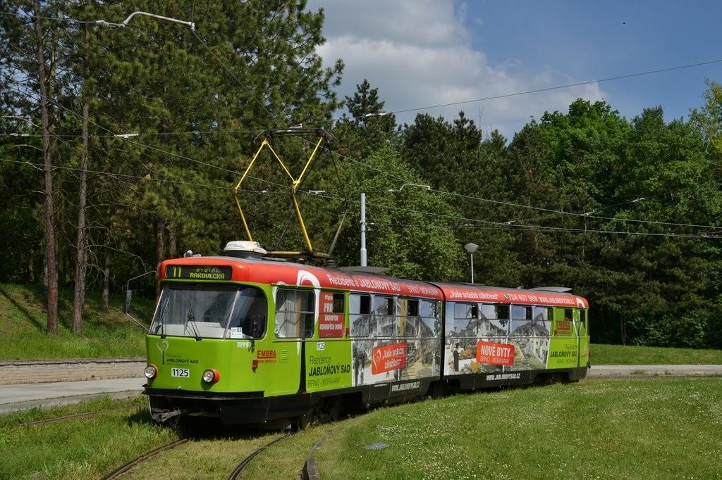 Fotogalerie » ČKD Tatra K2 1125 | Brno | Lesná | Čertova rokle