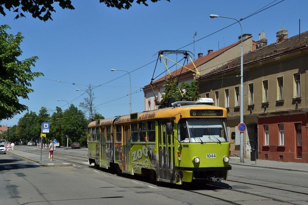 Fotogalerie » ČKD Tatra K2T 1044 | Brno | Ponava | Štefánikova | Hrnčířská