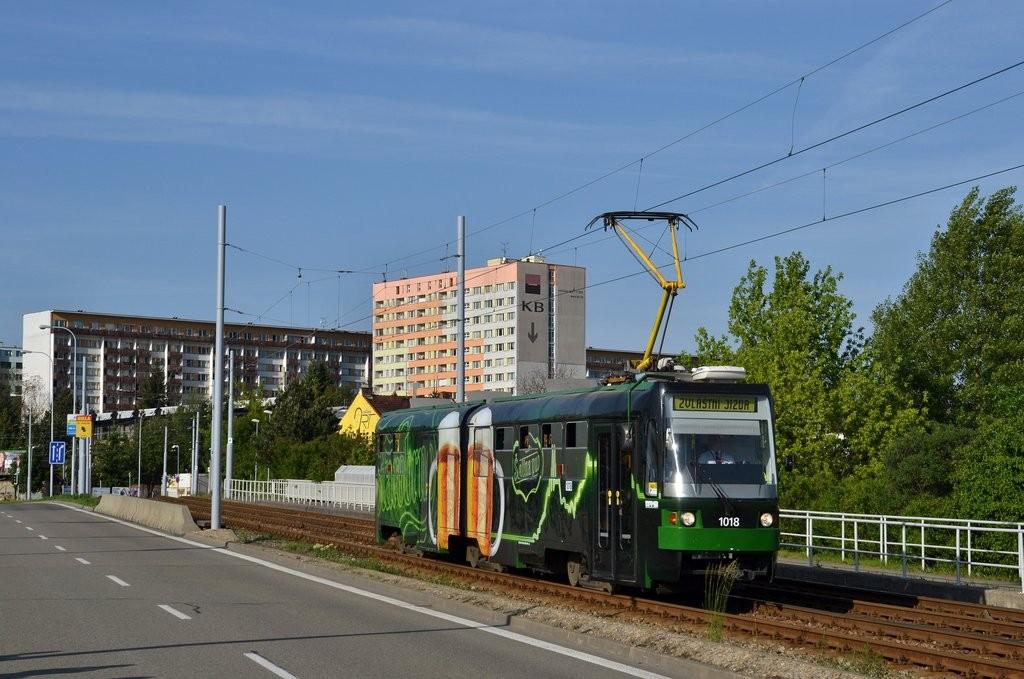 Fotogalerie » ČKD Tatra K2R-RT 1018 | Brno | Černá Pole | třída Generála Píky