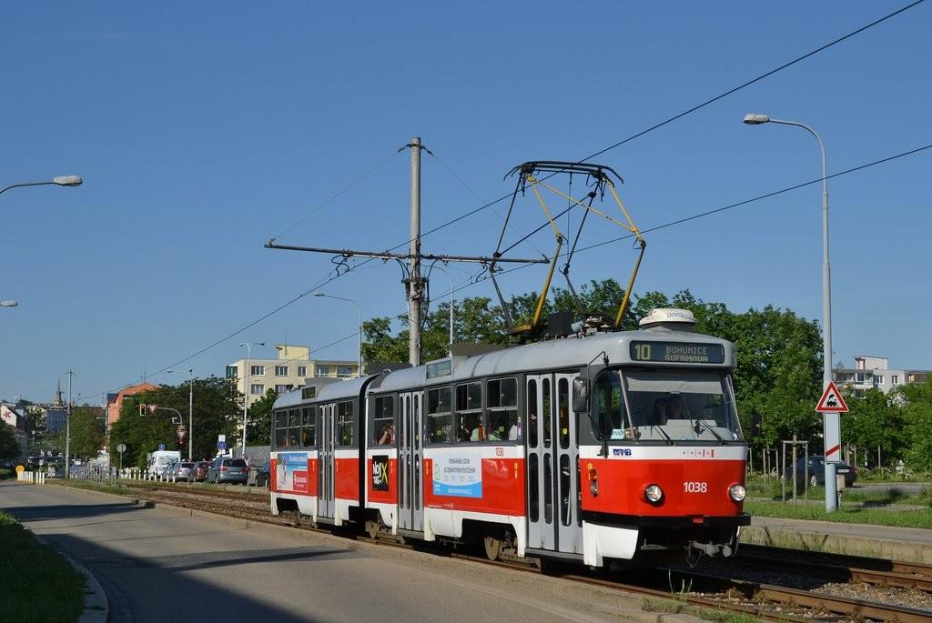 Fotogalerie » ČKD Tatra K2T 1038 | Brno | Štýřice | Renneská