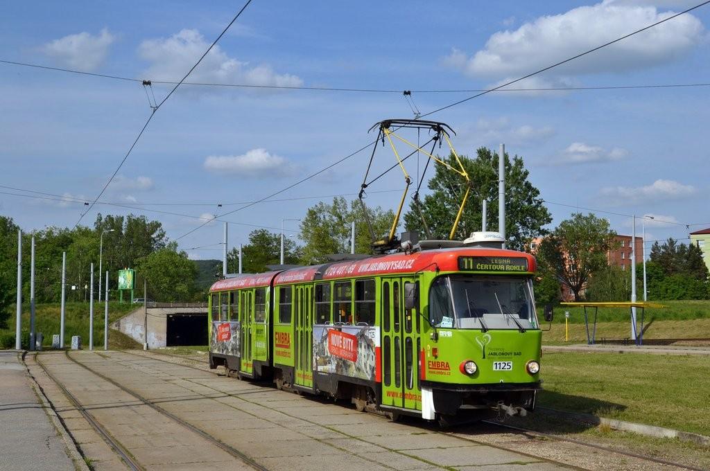 Fotogalerie » ČKD Tatra K2 1125 | Brno | Bystrc | Rakovecká | Rakovecká, smyčka