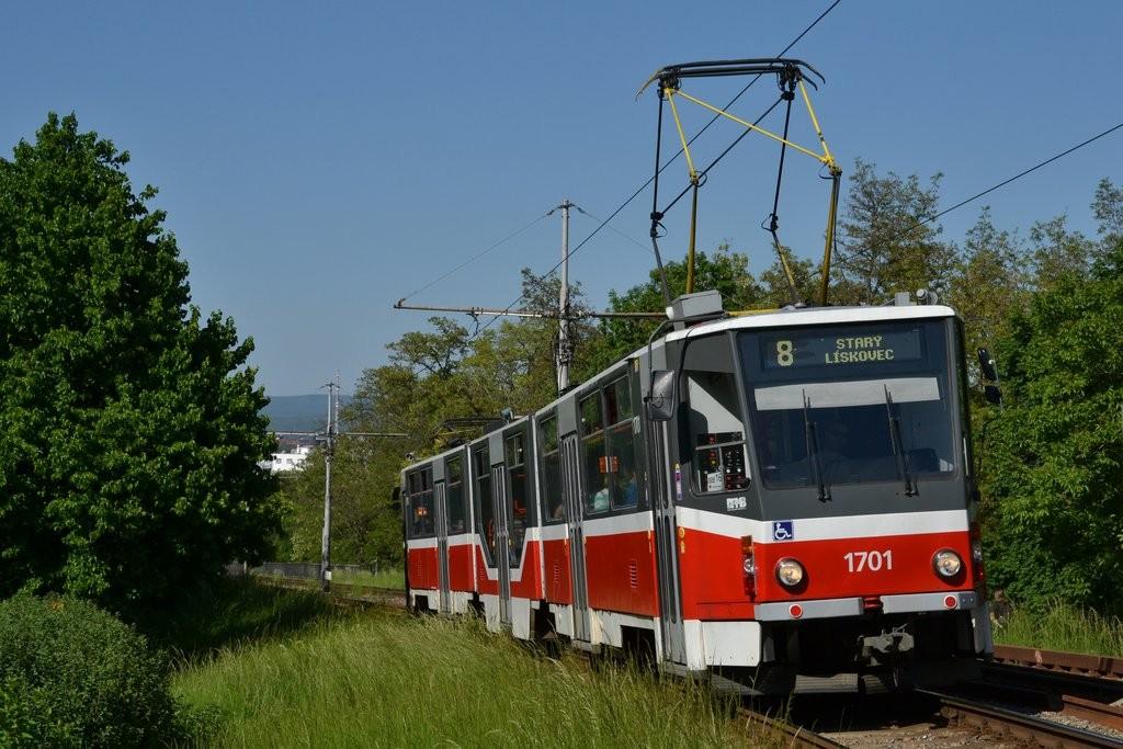 Fotogalerie » ČKD Tatra KT8D5R.N2 1701 | Brno | Štýřice