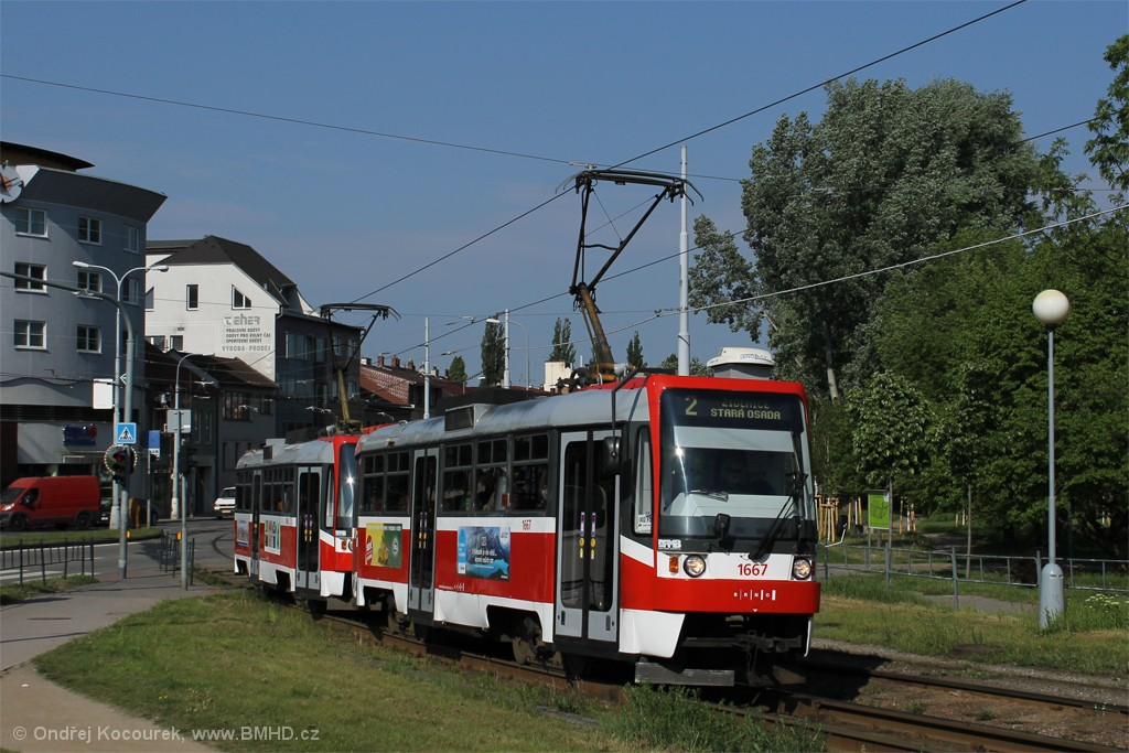 Fotogalerie » ČKD DS T3R 1667 | ČKD DS T3R 1668 | Brno | Židenice | Bubeníčkova
