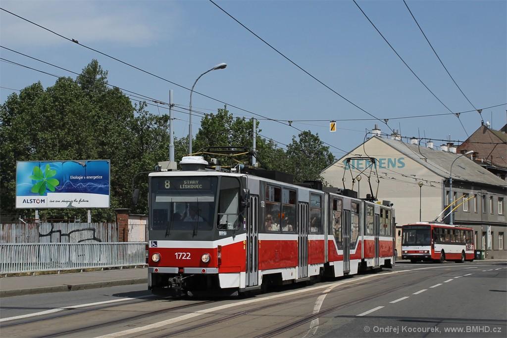 Fotogalerie » ČKD Tatra KT8D5R.N2 1722 | Brno | Trnitá | Křenová