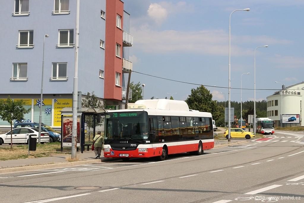 Fotogalerie » SOR NBG 12 1BB 6903 7015   Brno   Líšeň   Novolíšeňská   Jírova