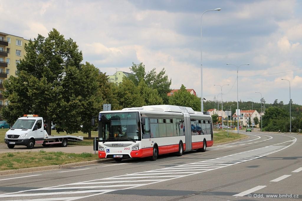 Fotogalerie » Iveco Urbanway 18M CNG 1BZ 9267 2042 | Brno | Líšeň | Novolíšeňská