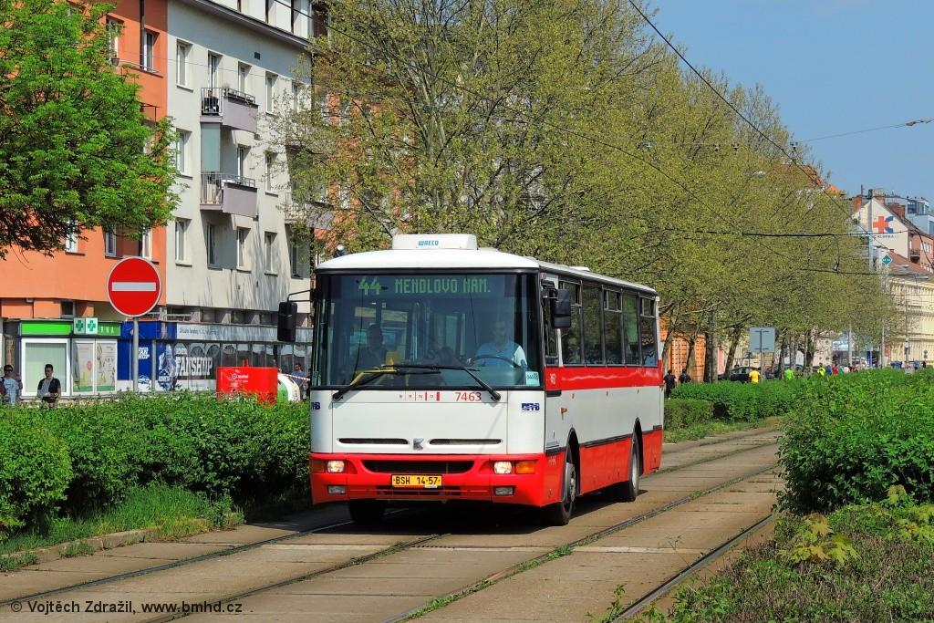 Fotogalerie » Karosa B931E.1707 BSH 14-57 7463   Brno   Staré Brno   Nové Sady