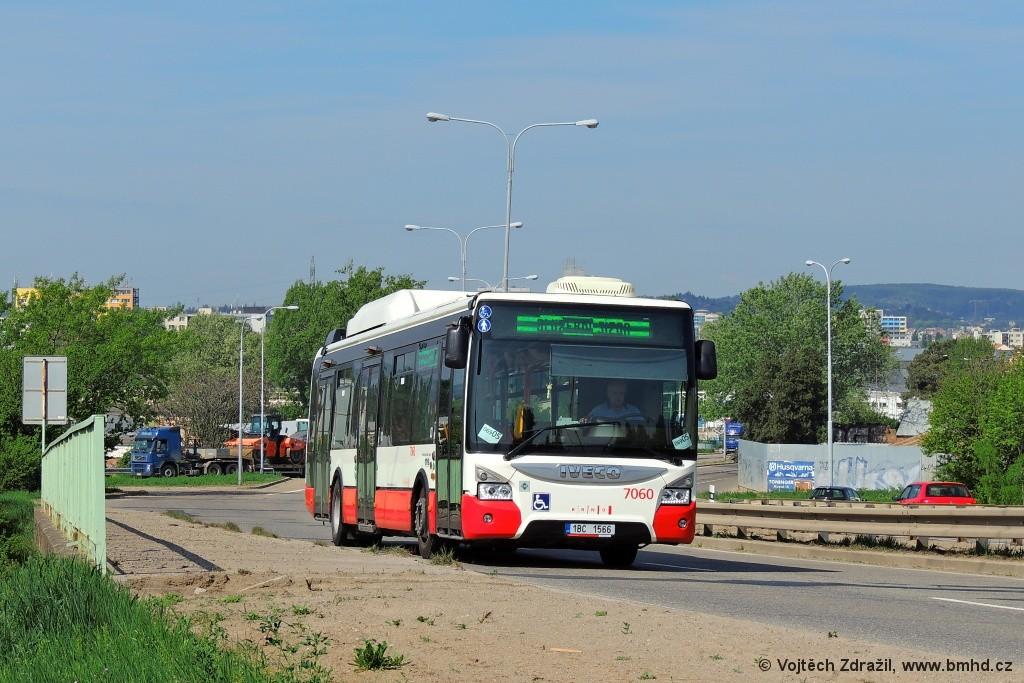 Fotogalerie » Iveco Urbanway 12M CNG 1BC 1566 7060 | Brno | Černovice | Černovická