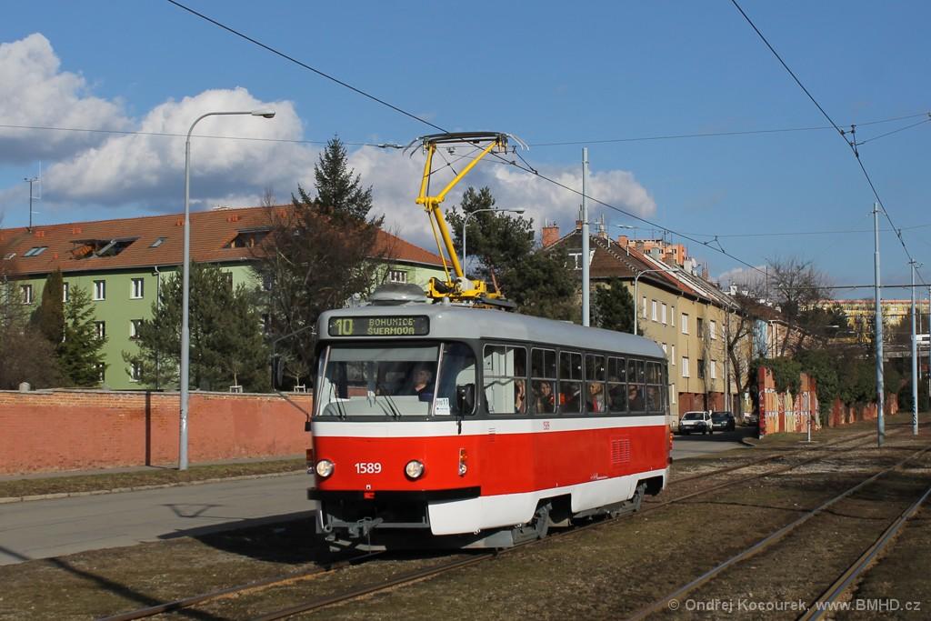 Fotogalerie » ČKD Tatra T3P 1589 | Brno | Židenice | Nezamyslova