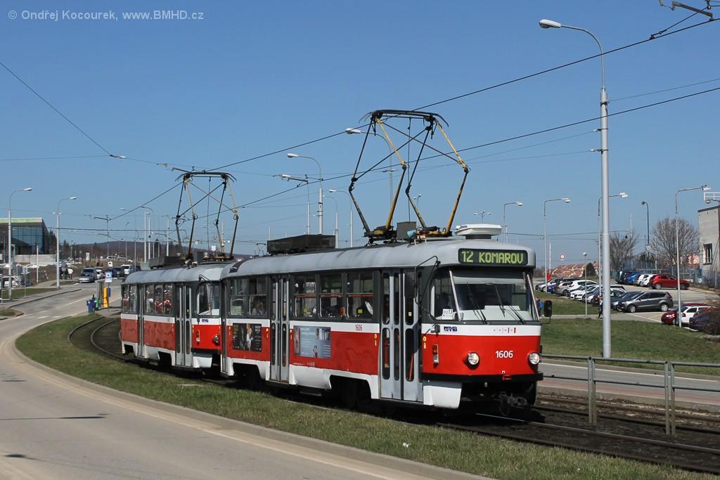 Fotogalerie » ČKD Tatra T3G 1606 | ČKD Tatra T3G 1608 | Brno | Královo Pole | Purkyňova