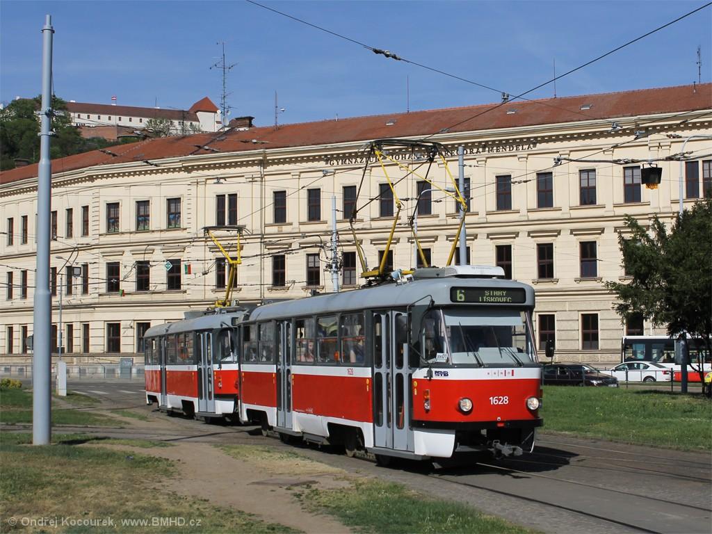 Fotogalerie » ČKD Tatra T3P 1628   ČKD Tatra T3P 1589   Brno   Staré Brno   Mendlovo náměstí