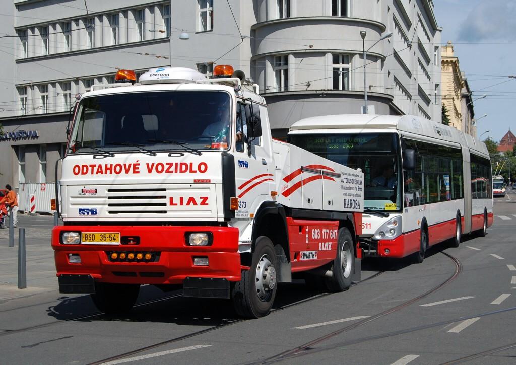Fotogalerie » Škoda 25Tr Citelis 1B 3611 | Liaz LIAZ 151.261 BSD 35-54 5273 | Brno | střed | Rašínova