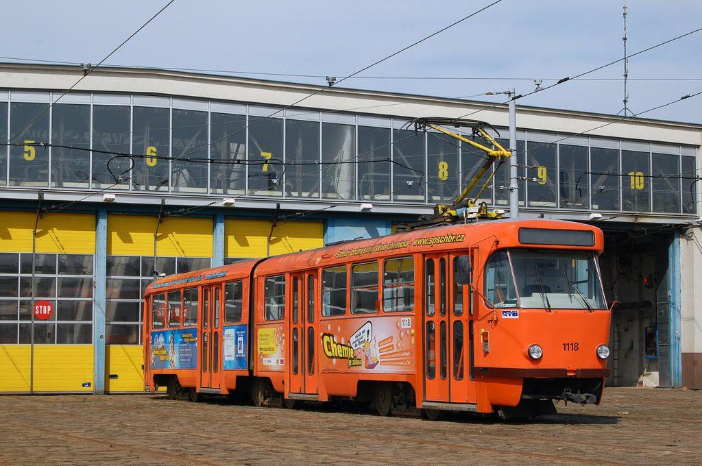 Fotogalerie » ČKD Tatra K2P 1118   Brno   vozovna Pisárky
