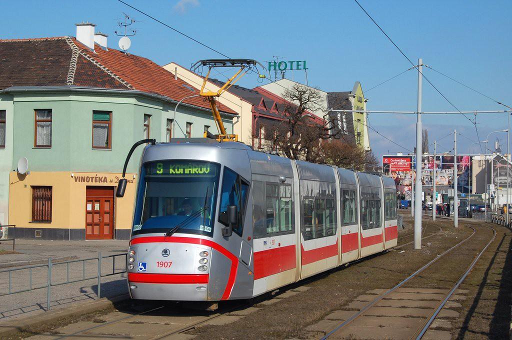 Fotogalerie » Škoda 13T2 1907 | Brno | Komárov | Svatopetrská