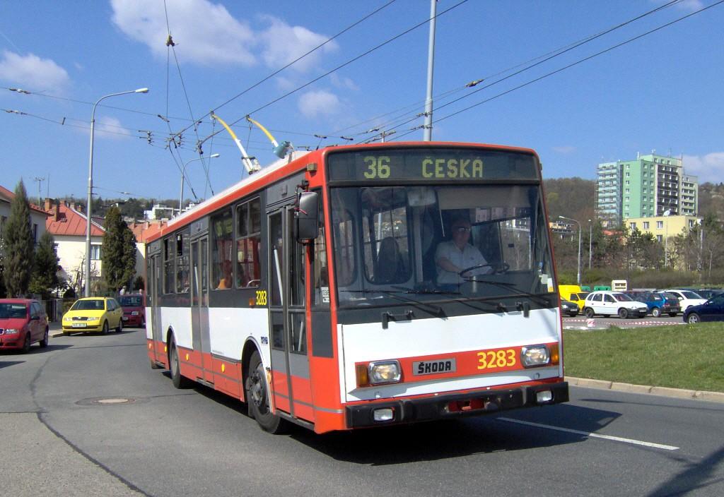 Fotogalerie » Škoda 14Tr17/6M 3283   Brno   Žabovřesky   Přívrat