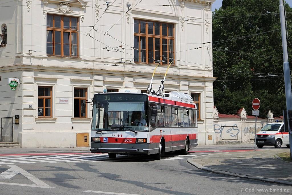 Fotogalerie » Škoda 21Tr 3012 | Brno | Staré Brno | Mendlovo náměstí | Mendlovo náměstí