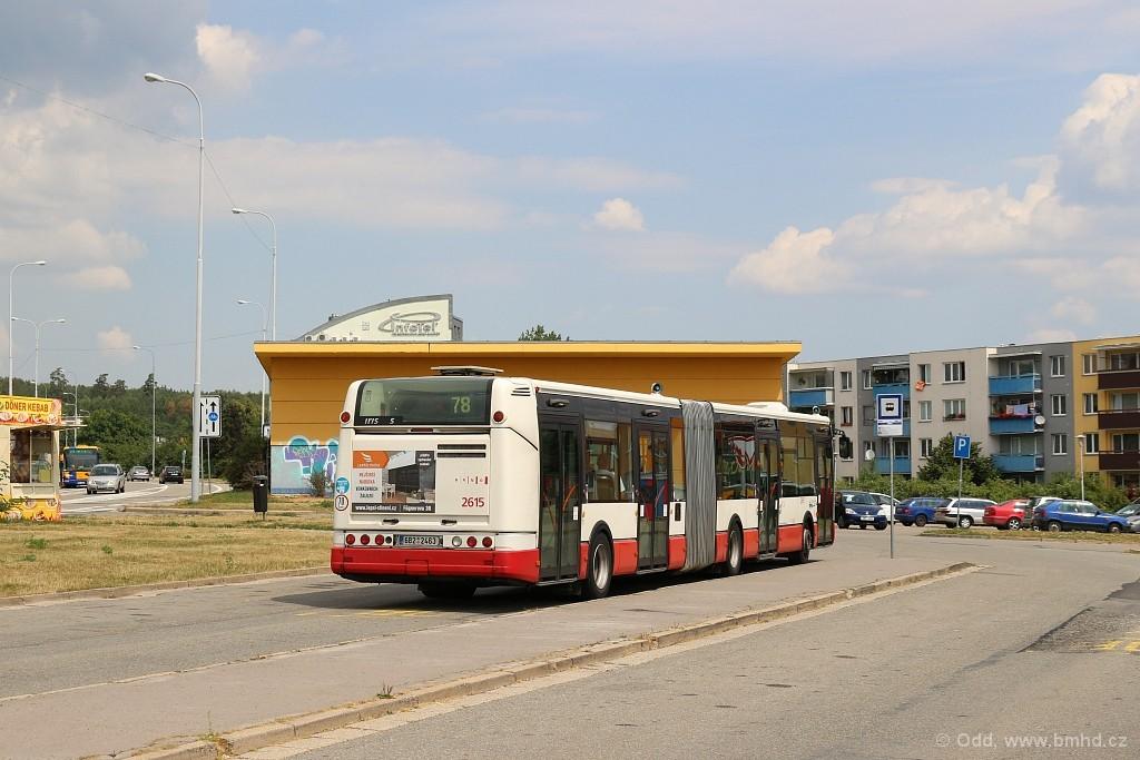 Fotogalerie » Irisbus Citelis 18M 6B2 2463 2615 | Brno | Líšeň | Novolíšeňská | Jírova