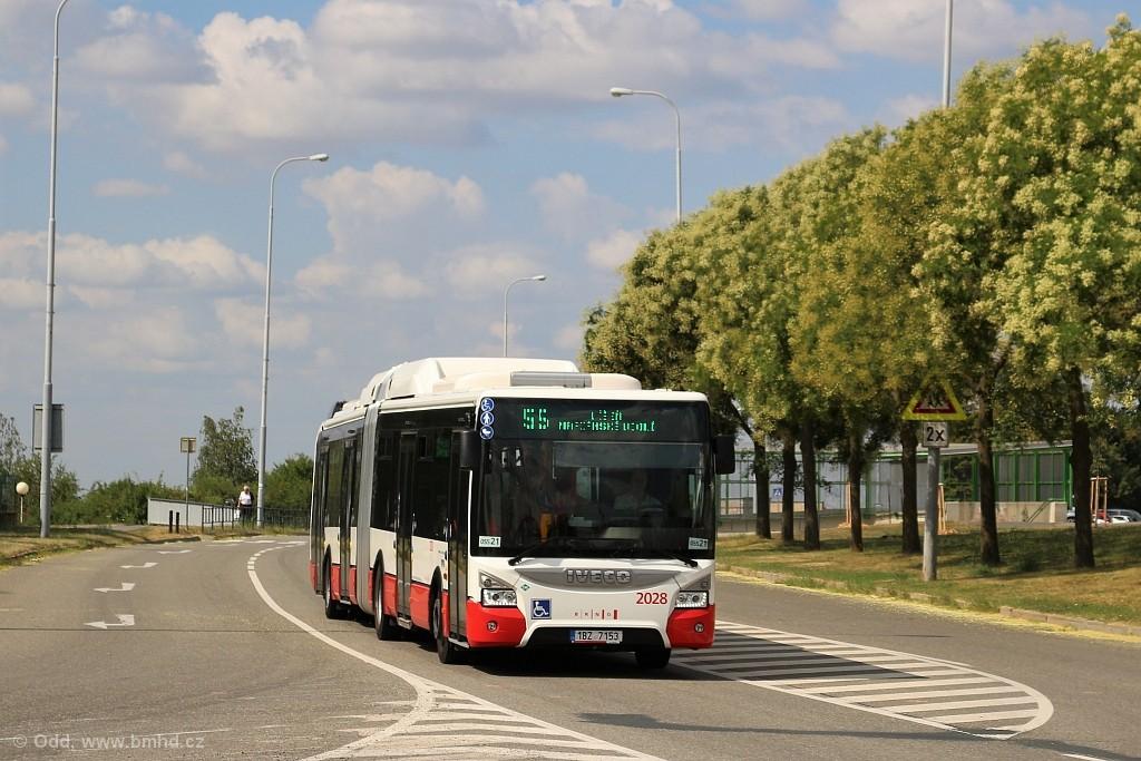 Fotogalerie » Iveco Urbanway 18M CNG 1BZ 7153 2028 | Brno | Líšeň | Novolíšeňská