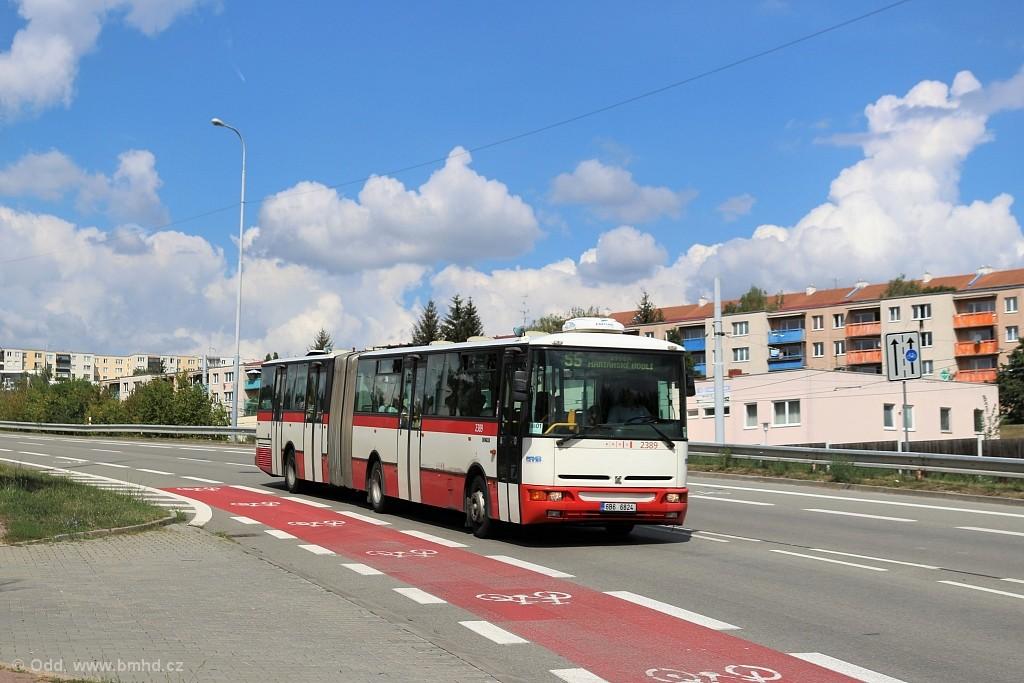Fotogalerie » Karosa B961E.1970 6B6 6824 2389 | Brno | Líšeň | Mifkova
