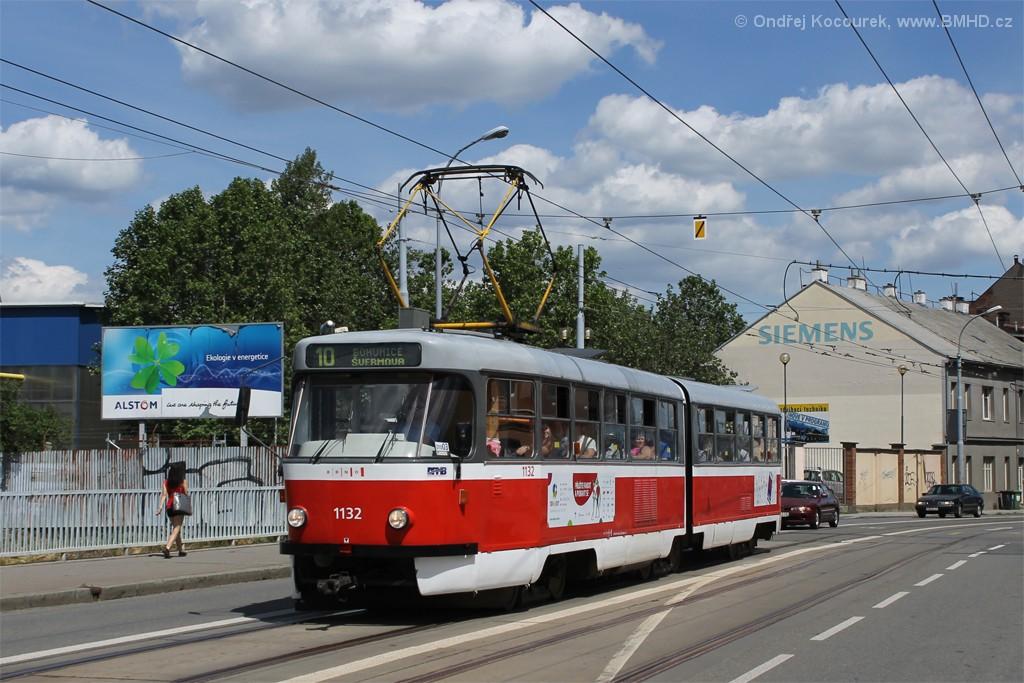Fotogalerie » ČKD Tatra K2 1132 | Brno | Trnitá | Křenová