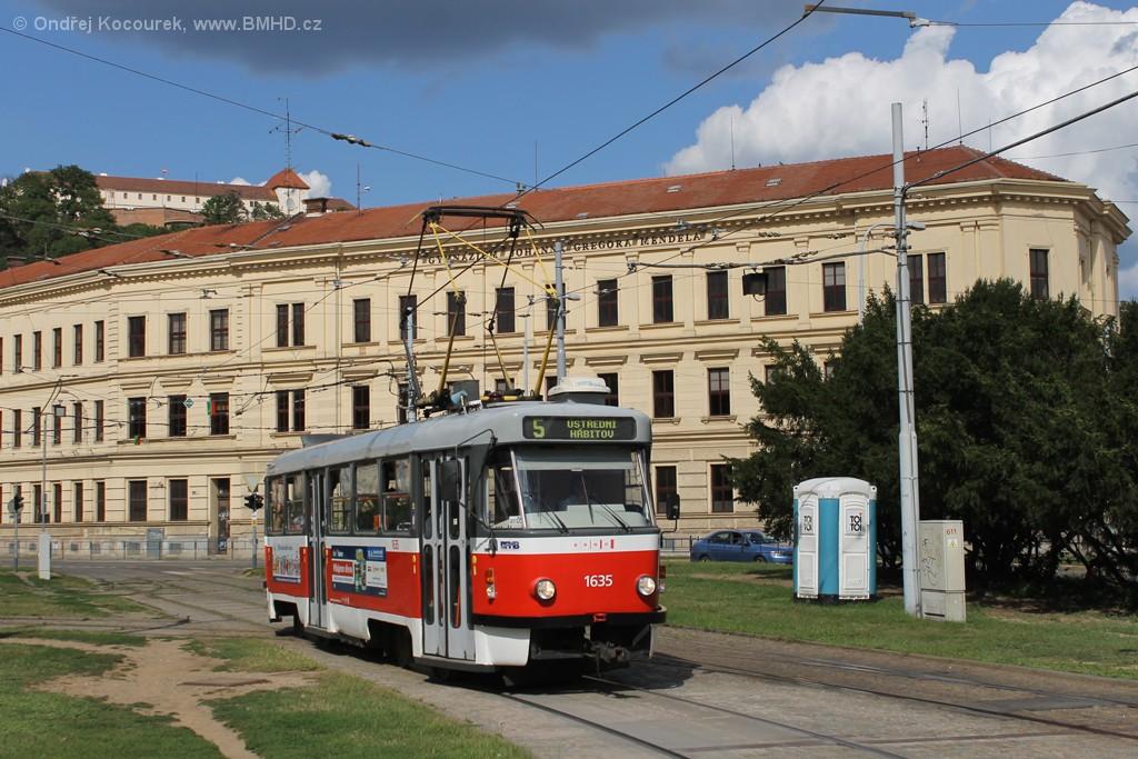 Fotogalerie » ČKD Tatra T3G 1635 | Brno | Staré Brno | Mendlovo náměstí