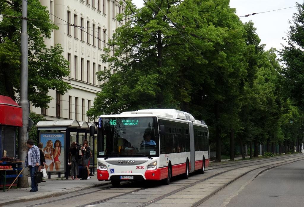 Fotogalerie » Iveco Urbanway 18M CNG 1BZ 7155 2030   Brno   Černá Pole   Lesnická   Zemědělská
