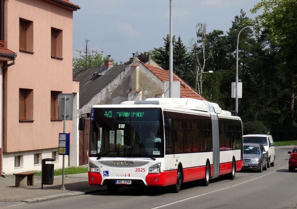 Fotogalerie » Iveco Urbanway 18M CNG 1BZ 7150 2025 | Brno | Tuřany | Sokolnická | Chrlická