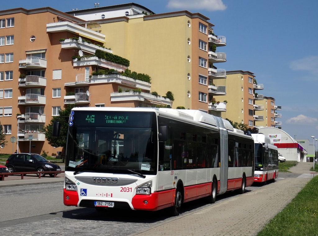 Fotogalerie » Iveco Urbanway 18M CNG 1BZ 7156 2031 | Brno | Lesná | Okružní | Haškova