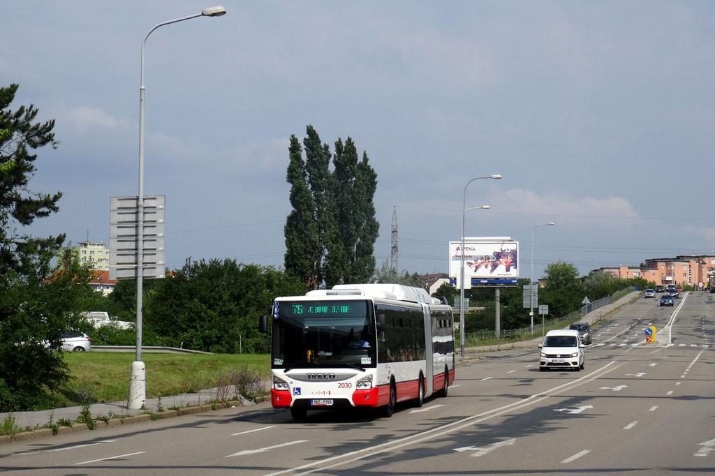 Fotogalerie » Iveco Urbanway 18M CNG 1BZ 7155 2030   Brno   Slatina   Bělohorská