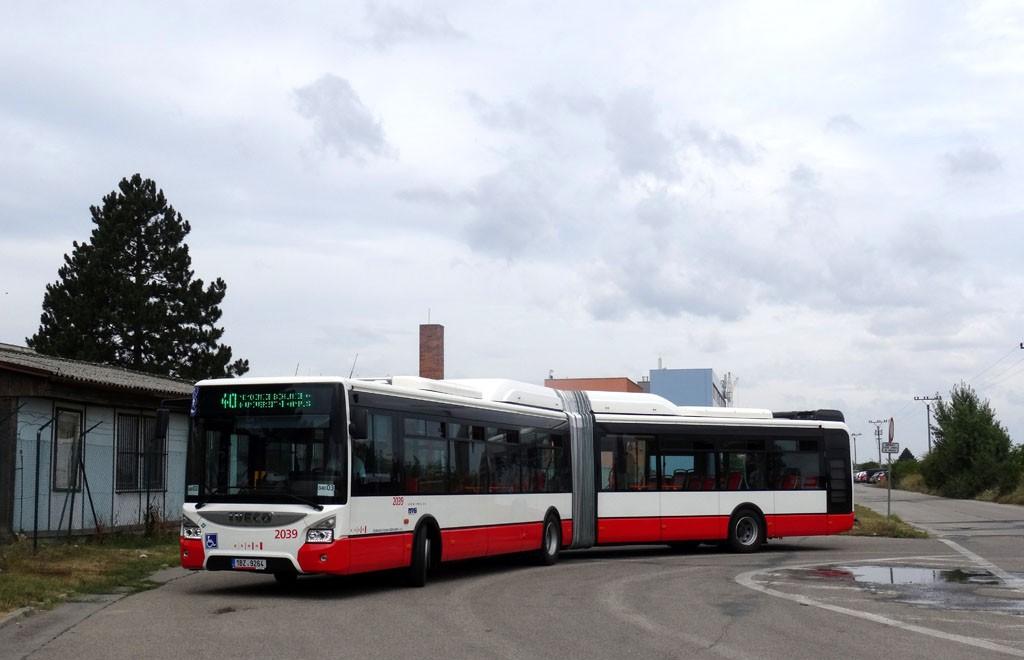 Fotogalerie » Iveco Urbanway 18M CNG 1BZ 9264 2039 | Brno | Tuřany | Tovární | Tovární
