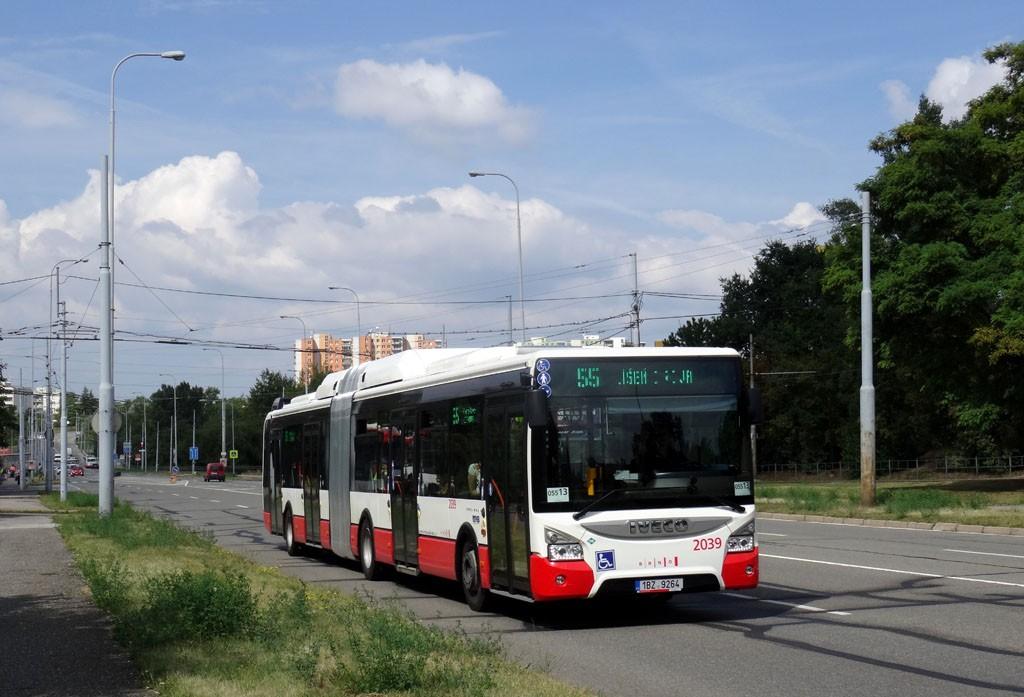 Fotogalerie » Iveco Urbanway 18M CNG 1BZ 9264 2039 | Brno | Líšeň | Novolíšeňská