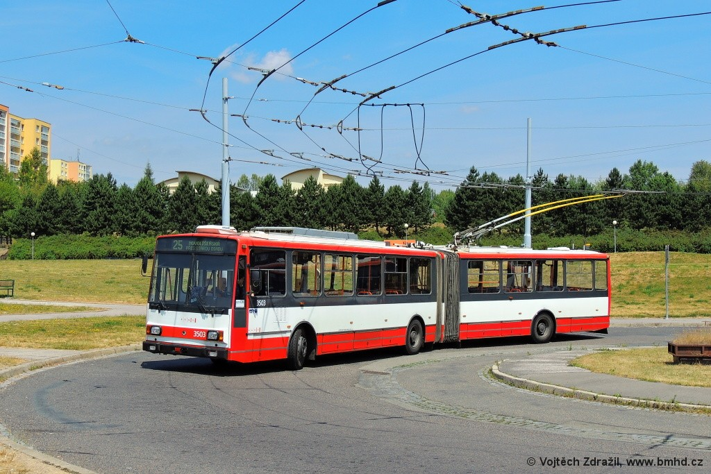 Fotogalerie » Škoda 15TrM 3503 | Brno | Starý Lískovec | Osová | Osová