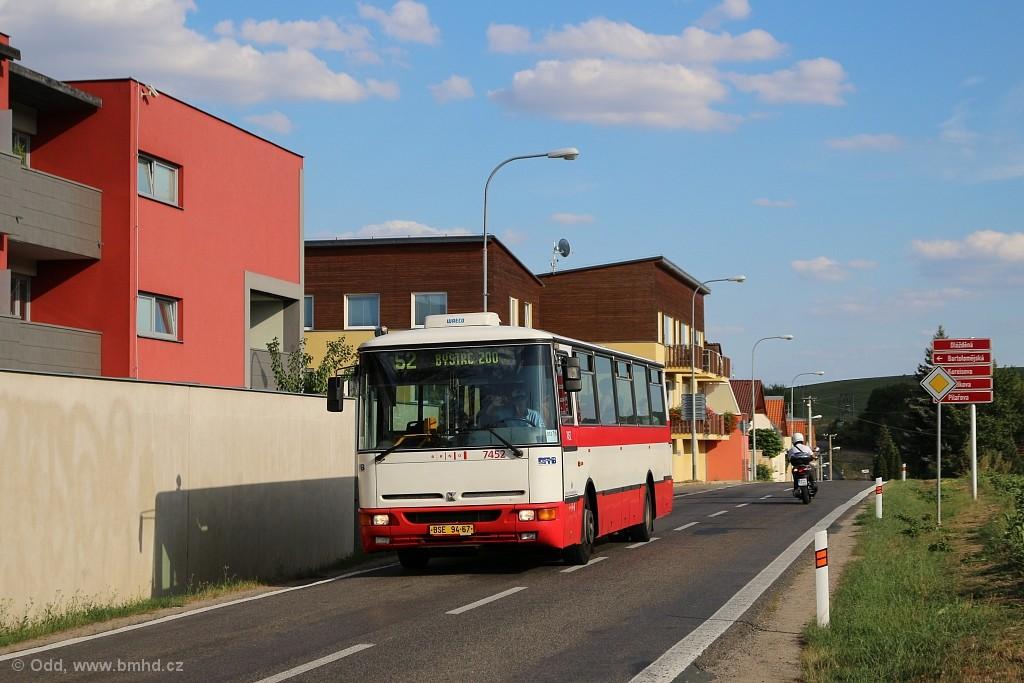 Fotogalerie » Karosa B931E.1707 BSE 94-67 7452   Brno   Žebětín   Dlážděná