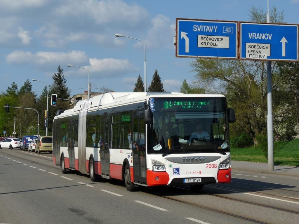 Fotogalerie » Iveco Urbanway 18M CNG 1BT 8128 2008 | Brno | Štefánikova Čtvrť | Merhautova