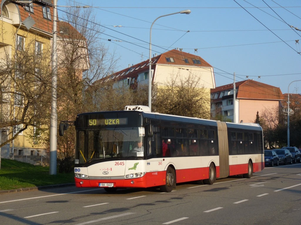 Fotogalerie » Solaris Urbino 18 III 1BA 0407 2645 | Brno | Kohoutovice | Libušina třída