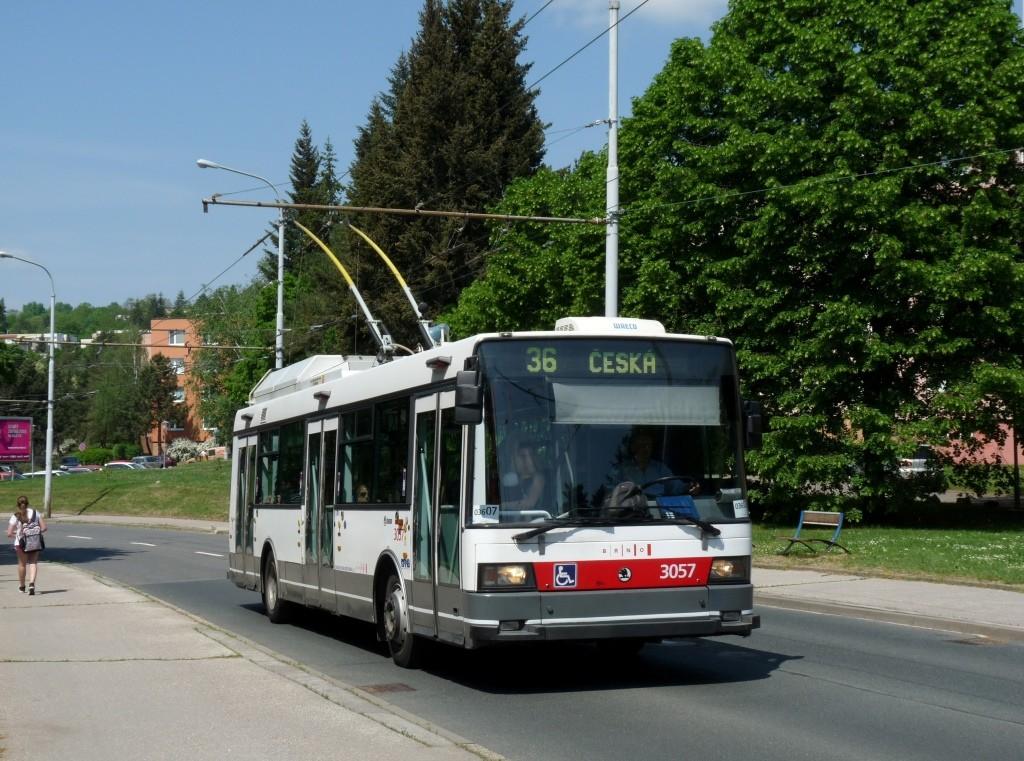 Fotogalerie » Škoda 21TrAC 3057 | Brno | Žabovřesky | Korejská