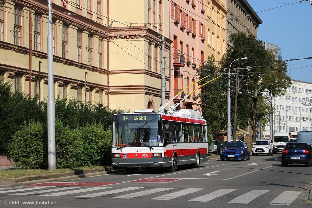 Fotogalerie » Škoda 21Tr 3032 | Brno | Veveří | Kounicova