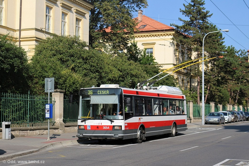 Fotogalerie » Škoda 21Tr 3054 | Brno | střed | Kounicova | Sušilova