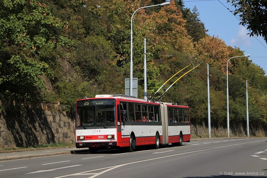 Fotogalerie » Škoda 15TrM 3505 | Brno | Veveří | Úvoz